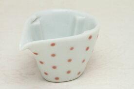 九谷焼 ミルチュウ ドット柄・ピンク コーヒー用ミルク入れの新しいスタイル コーヒーフレッシュをカポっとはめる (ミルクポット)【RCP】