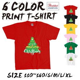送料無料 選べる6色,[100-160CM/S/M/L/XL]クリスマス短袖 Tシャツメンズ レディース キッズ サンタ トナカイ 冬 雪ダルマ 半袖 Tシャツ 親子ペア衣装 かわいい お揃い T t085-k117