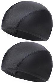 水泳キャップ スイムキャップ ゆったり サイズ メッシュ 水泳帽 スイミング キャップ 2枚入り メンズ レディース 送料無料