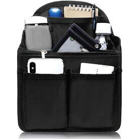 バッグインバッグ リュック 背面ポケットを大きく改良 トートバッグ 小型リュック用 PP底板付き 送料無料 27cm×20cm×13cm