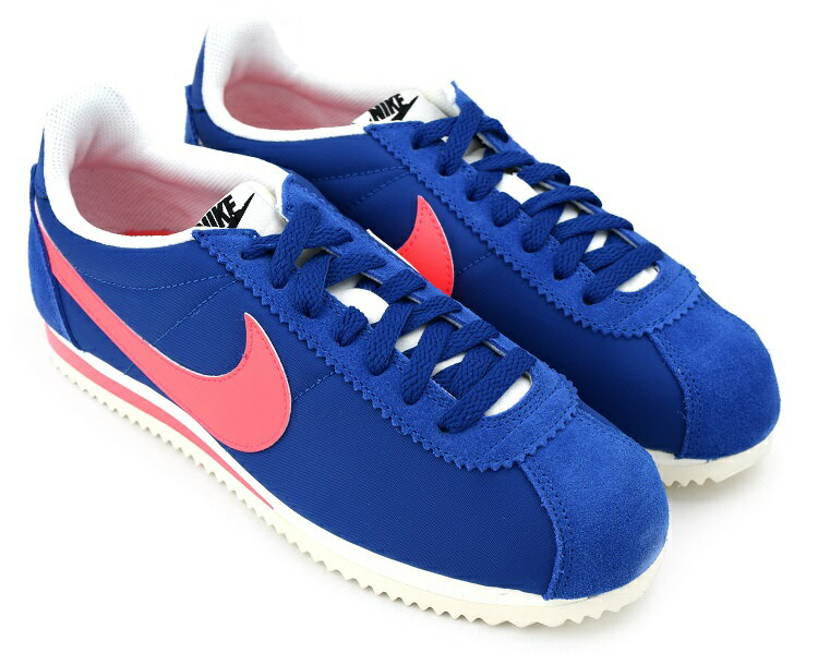 WMNS NIKE CLASSIC CORTEZ NYLON BLUE JAY/SOLAR RED-SAIL ウィメンズ ナイキ クラシック コルテッツ ナイロン