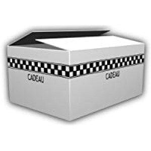 デザインダンボール フレンチチェック Lサイズ段ボール/収納用品/梱包資材/ギフト用