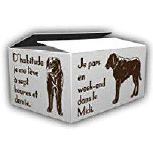 デザインダンボール ドッグ Lサイズ段ボール/収納用品/梱包資材/ギフト用