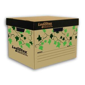 ダンボール製CB収納ボックスアイビー フタ付き段ボール/収納用品/収納ケース