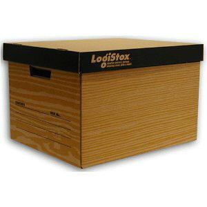 おしゃれなダンボール製収納ボックス茶 フタ付き段ボール/収納用品/収納ケース