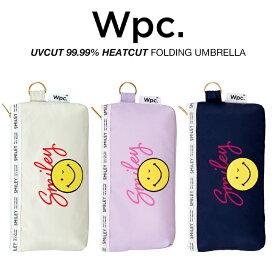 Wpc 日傘 折りたたみ傘 レディース 一級遮光 遮光遮熱 軽量 UVカット99.99% 遮光スマイリーウィンク 晴雨兼用 PUコーティング Wpc. ワールドパーティー 801-SM10