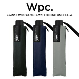 Wpc 折りたたみ傘 耐風傘 風に強い 大きい65cm傘 メンズ傘 無地 Wpc. ワールドパーティー UX003