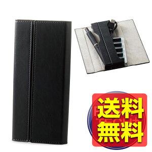 プルームテック プラス ケース レザー 1本 手帳型 オールインワン ブラック ET-PTPAP1BK / ELECOM 【送料無料】
