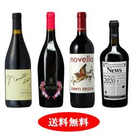【予約販売】【新酒ワイン】ヴィーノ・ノヴェッロ 2020 4本セット【送料無料】【赤ワインセット】