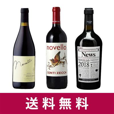 【新酒ワイン】ヴィーノ・ノヴェッロ 2018 3本セット【送料無料】【赤ワインセット】10月30日解禁しました!