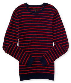 エアロポステール AEROPOSTALE メンズ Men's セーター Striped Crew Neck Sweater ネイビー レッド Navy Red