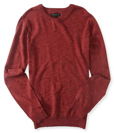 エアロポステール AEROPOSTALE メンズ Men's セーター Solid Crew Neck Sweater レッド Viny Red