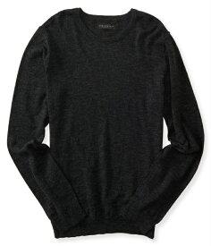 エアロポステール AEROPOSTALE メンズ Men's セーター Solid Crew Neck Sweater ブラック Black