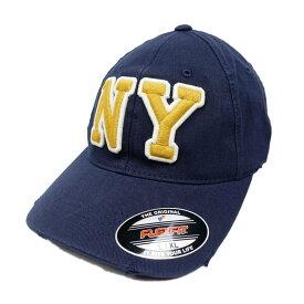 返品不可(エアロポステール)AEROPOSTALE キャップ NY Slouchy Fitted Hat ディープネイビー Deep Navy