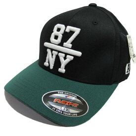 返品不可(エアロポステール)AEROPOSTALE キャップ 87NY Fitted Hat Black ブラック