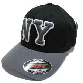 返品不可(エアロポステール)AEROPOSTALE キャップ NY Fitted Hat ブラック Black