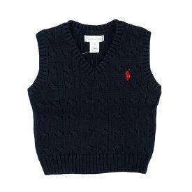 ラルフローレン RALPH LAUREN ベビー 男の子 セーター ベスト Cable-Knit Cotton Sweater Vest ネイビー Hunter Navy