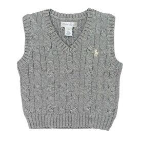 ラルフローレン RALPH LAUREN ベビー 男の子 セーター ベスト Cable-Knit Cotton Sweater Vest アンドーバーヘザー Andover Heather
