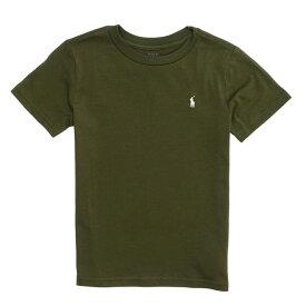 ポロ ラルフローレン POLO RALPH LAUREN ボーイズ Boys 半袖 Tシャツ Cotton Jersey Crewneck T-Shirt オリーブ Olive