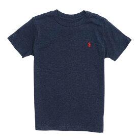ポロ ラルフローレン POLO RALPH LAUREN ボーイズ Boys 半袖 Tシャツ Cotton Jersey Crewneck T-Shirt ネイビー Winter Navy Heather