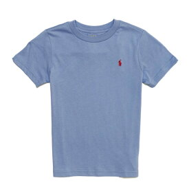 ポロ ラルフローレン POLO RALPH LAUREN ボーイズ Boys 半袖 Tシャツ Cotton Jersey Crewneck T-Shirt ブルー Channel Blue