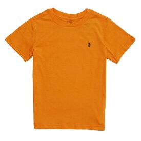 ポロ ラルフローレン POLO RALPH LAUREN ボーイズ Boys 半袖 Tシャツ Cotton Jersey Crewneck T-Shirt オレンジ Thai Orange