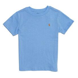 ポロ ラルフローレン POLO RALPH LAUREN ボーイズ Boys 半袖 Tシャツ Cotton Jersey Crewneck T-Shirt ブルー ラグーン Blue Lagoon