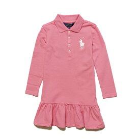 ポロ ラルフローレン POLO RALPH LAUREN ガールズ Girls 長袖 ポロシャツ ドレス Big Pony Stretch Mesh ドルチェ ピンク Dress Dolce Pink
