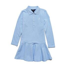 ポロ ラルフローレン POLO RALPH LAUREN ガールズ Girls 長袖 ポロシャツ ドレス Stretch Mesh Polo Dress エリート ブルー Elite Blue