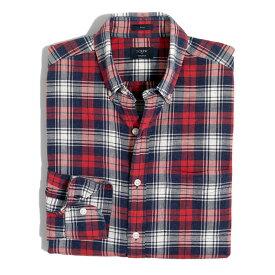 ジェイクルー J.Crew 長袖シャツ Plaid Homespun Shirt ヴィンテージ ブルー レッド Vintage Blue Red