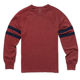 ジェイクルー J.Crew 長袖Tシャツ Slim Double-Striped Football T-Shirt レッドカラント Red Currant