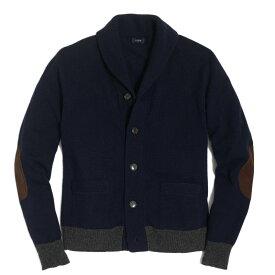 ジェイクルー J.Crew メンズ Mens セーター Lambswool Contrast Rib Cardigan Sweater ダークネイビー Dark Navy
