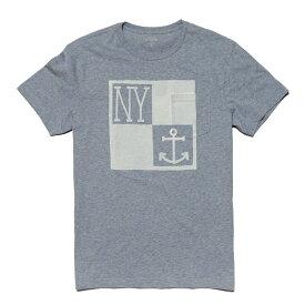 ジェイクルー J.Crew 半袖Tシャツ New York anchor T-shirt ヘザーカリビアン Heather Caribbean