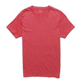 ジェイクルー J.Crew メンズ Mens 半袖 Tシャツ Heatherd V-Neck T-shirt キャニオン レッド Canyon Red