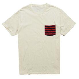 ジェイクルー J.Crew メンズ Mens 半袖 Tシャツ Slim Contrast Stripe Pocket T-Shirt ホワイト系 White Fleet