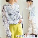 【最新入荷】【送料無料】シャツ透け感ブラウストップスロングシャツレディースシャツ大きいサイズ長袖ゆったり長袖シャツロング薄手日焼けシースルートップス