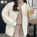 【最新入荷】中綿キルティングジャケット アウター ジャケット コート レディース 無地 ショートコート 防寒 可愛い …