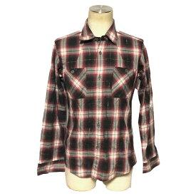 ☆【送料無料】MEN'S BIGI(メンズビギ)コットンチェック柄デザインシャツ【中古】☆【2019ss】
