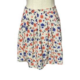 ☆【送料無料】AG/aquagirl(アクアガール)フラワープリント生地デザインスカート【2017ss】【中古】【美品】