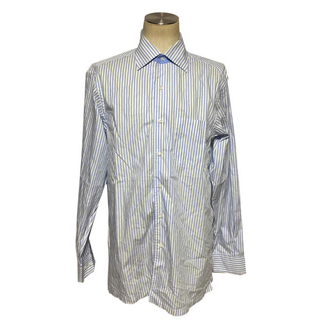 ☆【送料無料】【レア】Bamford & Sons(バムフォード&サンズ)ストライプ柄デザインシャツ【中古】【美品】【luxurybrandselection】【2017ss】