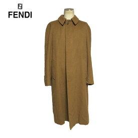 ☆【送料無料】【最高級】フェンディ(FENDI) カシミア100% デザインステンカラーコート【2017ss】【中古】【美品】【luxurybrandselection】バーゲン