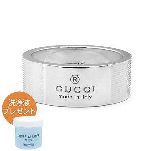 GUCCI グッチ 指輪 リング メンズ レディース シンプル ロゴ リング シルバー 163179 J8400 8106 | ブランド