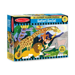 メリッサ&ダグ サファリ・ソーシャル 24ピース フロア・パズル Melissa & Doug Safari Social Floor Puzzle - 24 Pieces