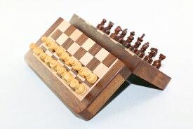 高級木製マグネット チェス駒セット ♪極小 柘植・紫檀♪
