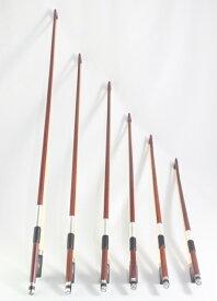 バイオリン弓 分数(3/4、1/2、1/4、1/8、1/10、1/16)、黒檀フロッグ、パリジャンアイ