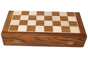 ハンドメイド高級 折りたたみ式 チェス・ボード(盤) ♪紫檀・柘植♪  12インチ