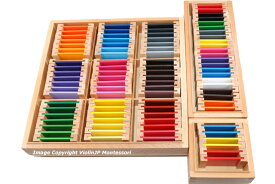 モンテッソーリ 色板 第1、2、3の箱セット Montessori  Color Tablets Box 1, 2, 3 知育玩具
