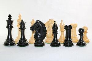 チェス駒セット Bridle ♪エボナイズド・柘植♪  キング4インチ ハンドメイド高級