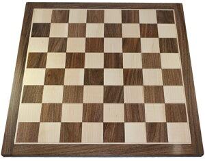 ハンドメイド高級 チェス・ボード(盤) ♪アカシア・柘植♪  20インチ