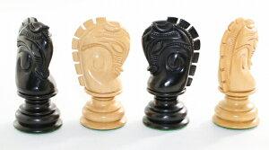 ハンドメイド高級 チェス駒セット ダッチ・チャンピオンシップ・シリーズ ♪柘植・エボナイズド♪  キング100mm